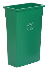 Continental Commercial Products Wall Hugger Recycle Receptacle, 23 Gallon, Green Item Number 1597497