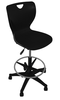 Classroom Select Contemporary Pneumatic Lift Chair with Adjustable Foot Ring, A Shell, Various Options Item Number 1597918
