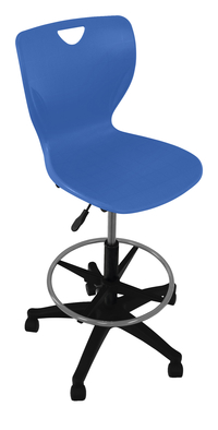 Classroom Select Contemporary Pneumatic Lift Chair with Adjustable Foot Ring, A+ Shell, Various Options Item Number 1600892