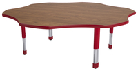Classroom Select Laminate NeoClass Leg Activity Table, T-Mold, Flower, 60 Inches, Various Options Item Number 1598350