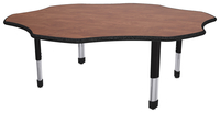 Classroom Select Laminate NeoClass Leg Activity Table, LockEdge, Flower, 60 Inches, Various Options Item Number 1598377