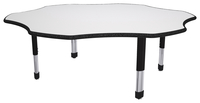 Classroom Select Markerboard NeoClass Leg Activity Table, LockEdge, Flower, 60 Inches, Various Options Item Number 1598431