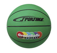 Sportime Gradeball Rubber Mini Basketball, 11 Inches, Green Item Number