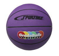 Sportime Gradeball Rubber Mini Basketball, 11 Inches, Violet Item Number