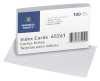 4x6 Ruled Index Cards, Item Number 1600290