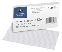5x8 Ruled Index Cards, Item Number 1600292