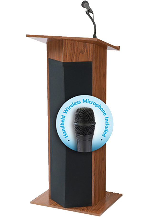 oklahoma sound power plus lectern wireless handheld microphone 22 x 17 x 46 inches various. Black Bedroom Furniture Sets. Home Design Ideas
