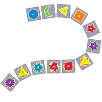 Image for Flagship Carpets Sidewalk Math Counting Dragons Carpet Squares, 15 x 15 Inches, Set of 12 from School Specialty