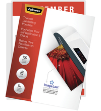 Fellowes ImageLast Laminating Pouches, Letter, 5 mil Thickness, Pack of 100 Item Number