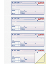 Receipts and Invoices and Statement Forms, Item Number 1602766