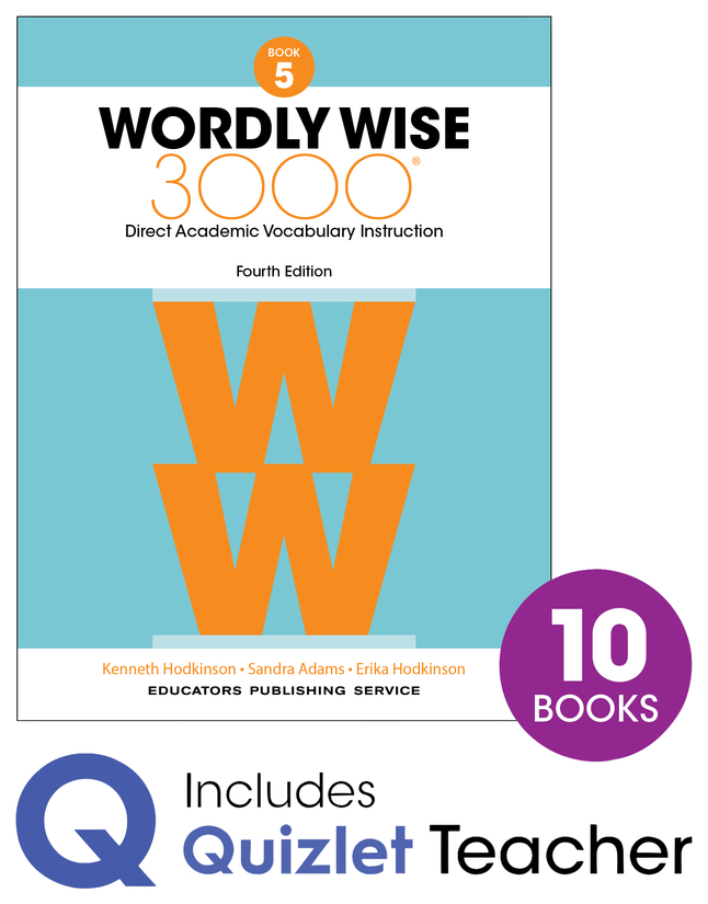 Image for Wordly Wise 3000 4th Edition Grade 5 Small Group Refill Set from School Specialty