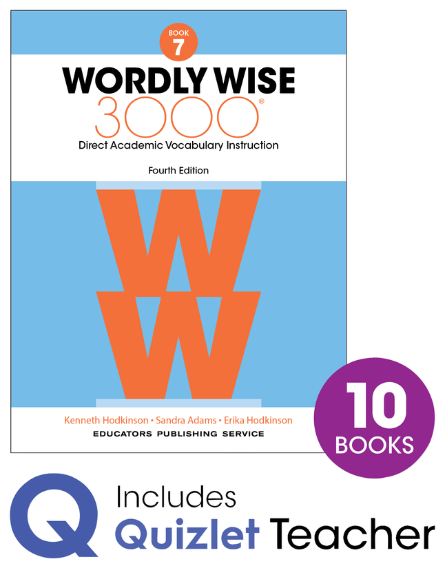 Image for Wordly Wise 3000 4th Edition Grade 7 Small Group Refill Set from School Specialty
