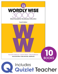 Image for Wordly Wise 3000 4th Edition Grade 12 Small Group Refill Set from School Specialty