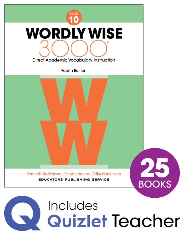 Image for Wordly Wise 3000 4th Edition Grade 10 Class Refill Set from School Specialty