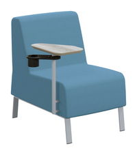 Classroom Select Soft Seating Armless Chair with Left Tablet, 23 x 32 x 34 Inches, Various Options Item Number 1605243