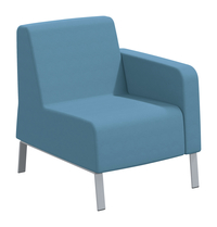 Classroom Select Soft Seating Left Arm Only Chair, 27-1/2 x 32 x 34 Inches, Various Options Item Number 1605246