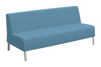Classroom Select Soft Seating Armless Sofa, 78 x 32 x 34 Inches, Various Options Item Number 1605248