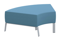 Classroom Select Soft Seating 60 Degree Bench, 48 x 32 x 18 Inches, Various Options Item Number 1605252