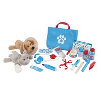 Melissa & Doug Examine and Treat Pet Vet Play Set, 24 Pieces Item Number 2016174