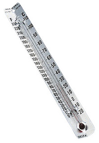 Delta Education V-Back Metal Thermometers - Fahrenheit/Celsius Dual Scale Item Number 200-1097