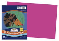 SunWorks Heavyweight Construction Paper, 12 x 18 Inches, Hot Pink, 50 Sheets Item Number 200050