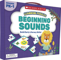 Scholastic Learning Puzzles: Beginning Sounds, Grades PreK-1 Item Number 2002269