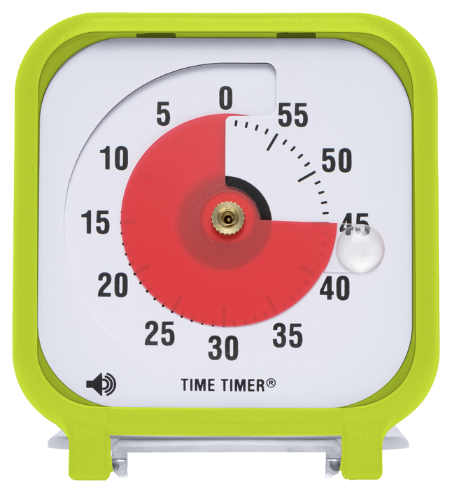 Time Timer, 60 Minutes 3 x 3 Inches, Lime Green