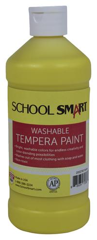 School Smart Washable Tempera Paint, Pint, Yellow Item Number 2002740