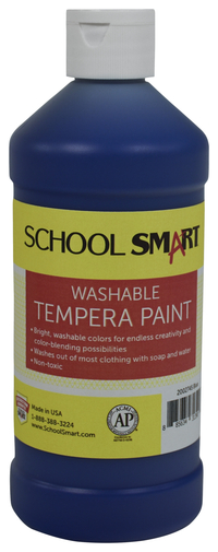 School Smart Washable Tempera Paint, Pint, Blue Item Number 2002745