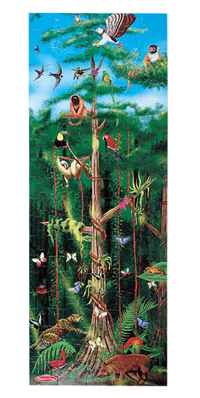 Melissa Doug Rain Forest Floor Puzzle 18 X 48 Inches 100 Pieces