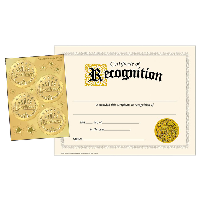 Award Certificates, Item Number 2003463