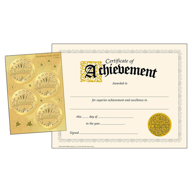 Award Certificates, Item Number 2003465