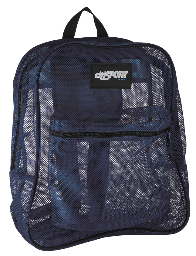Image for Mesh Backpack, Navy, 17 x 14 x 6-1/2 Inches from School Specialty