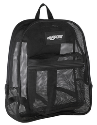 Image for Mesh Backpack, Black, 17 x 14 x 6-1/2 Inches from SSIB2BStore