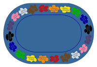 Childcraft Learn Your Colors Bilingual Carpet, 8 x 12 Feet, Oval Item Number