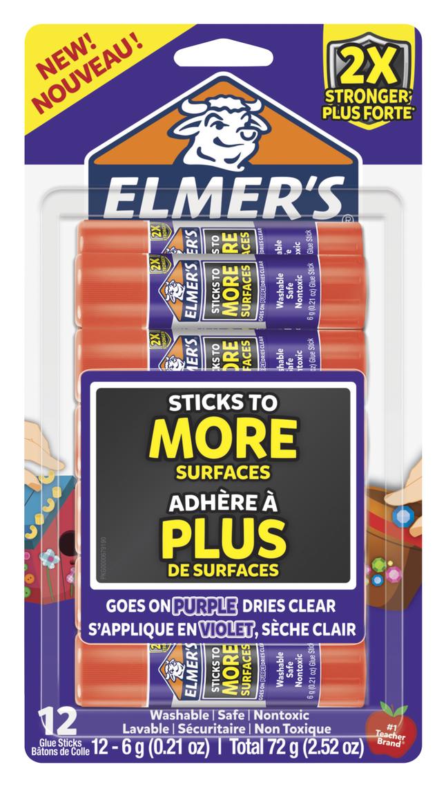 Elmer's Extra Strength Glue Sticks, 0 21 Ounces, Pack of 12