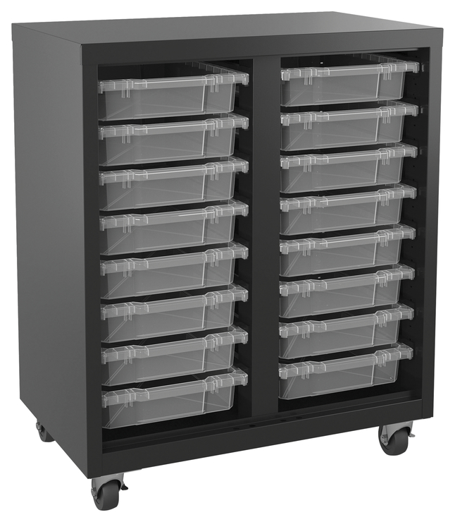 Lorell Pull-out Bins Mobile Storage Unit - Storage Unit, w ...