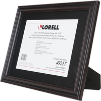 "Image for Lorell Two-toned Certificate Frame -- Frame, 11""Wx14""H, Rosewood from School Specialty"