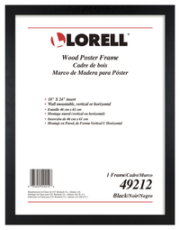 "Image for Lorell Wide Frame -- Frame, Wood, Wall Mountable, 24""Wx36""H, Black from School Specialty"