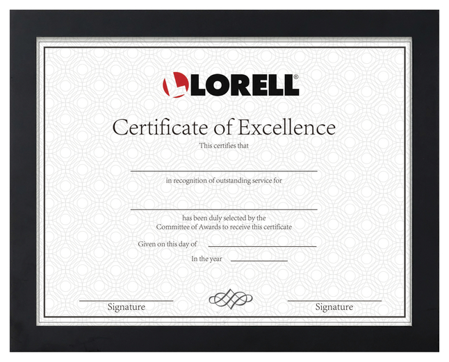 """Image for Lorell Certificate Frame -- Frame, 8-1/2""""Wx11""""H, Black from School Specialty"""