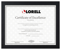 "Image for Lorell Certificate Frame -- Frame, 8-1/2""Wx11""H, Black from School Specialty"