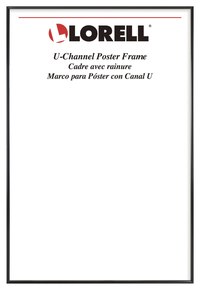 "Image for Lorell U-channel Poster Frame -- Frame, Poster, Wall Display Only, 18""Wx24""H, Black from School Specialty"