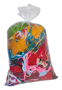 Pacon Acrylic Remnant Yarn Pack, Assorted Size, Assorted Bright and Earthtone Color, 1 lb Item Number 200594