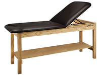 Image for CanDo® Treatment Table w/ Adjustable Back & Shelf, 72 x 27 x 31 Inches, Natural Wood/Black Upholstery from SSIB2BStore