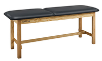 Image for CanDo® Treatment Table w/ Adjustable Back, 72 x 27 x 31 Inches, Natural Wood/Black Upholstery from SSIB2BStore