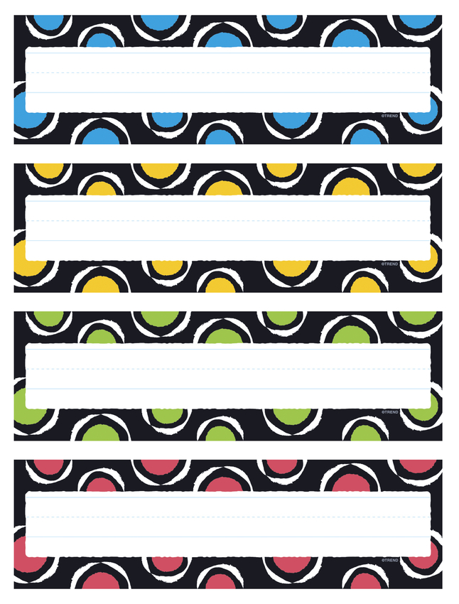 T Splashy Colors Desk Toppers Name Plates Var 32 ct Trend Enterprises Inc Pk.