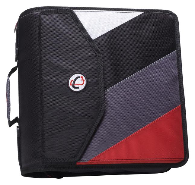 Case-it The King Sized Zip Tab Backpack Zipper Binder, 4
