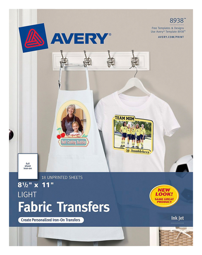 Avery T-Shirt Transfers, Item Number 2007004