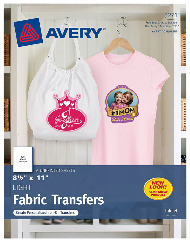 Avery T-Shirt Transfers, Item Number 2007005