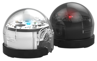Ozobot Bit Educational Coding Robots, Dual Pack, Crystal White and Titanium Black Item Number 2009477